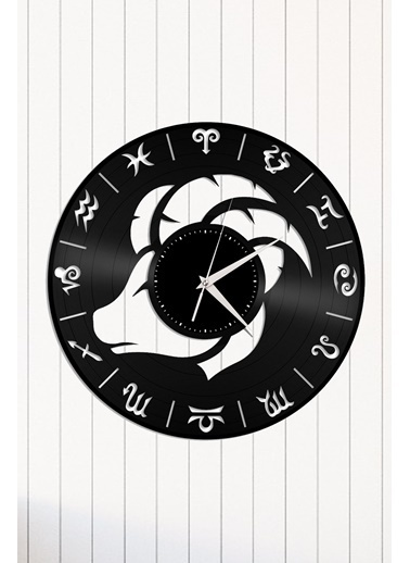 Angemiel Home Burç Oğlak Astroloji Pleksi Duvar Saati Siyah